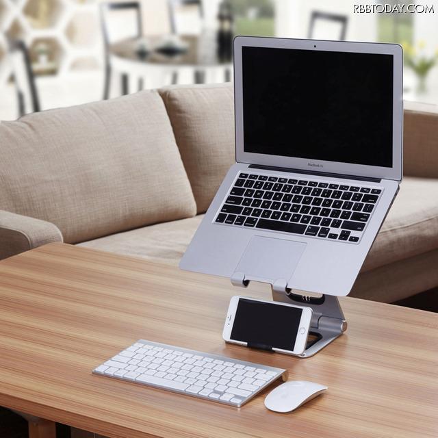 ノートパソコンをデスクで快適に使う!ラップトップスタンド「The Apex Revolution」