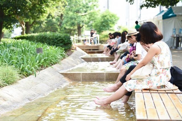 小川で涼しむASHIMIZU