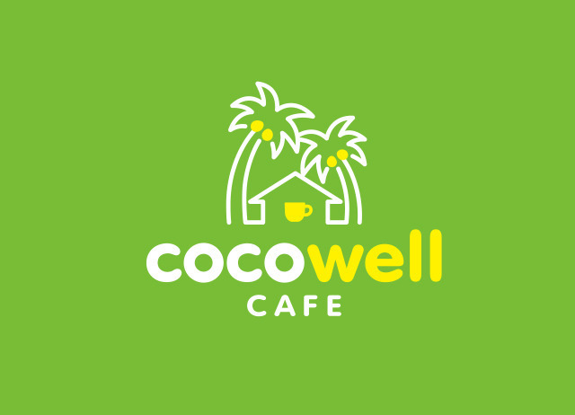 「cocowell cafe(ココウェルカフェ)」ロゴマーク