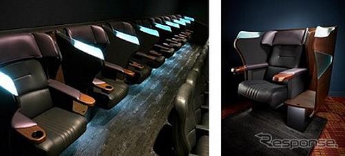 トヨタ紡織がデザイン開発したミッドランドスクエア シネマ2のプレミアムシート