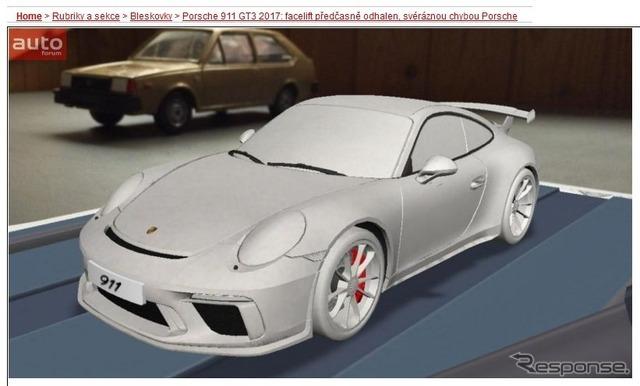 改良新型ポルシェ 911 GT3の姿をリークした『autoforum.cz』