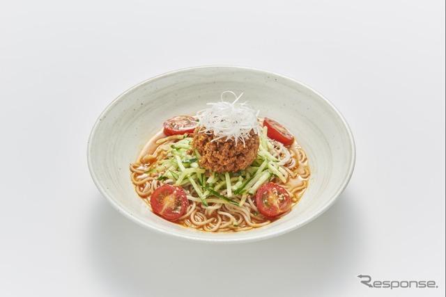 1 冷し担々風ピリ辛そば(いろり庵)