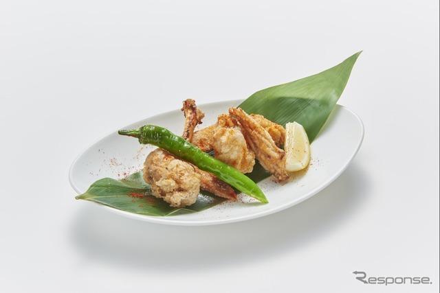 2 比内地鶏の辛揚げ(本家あべや)