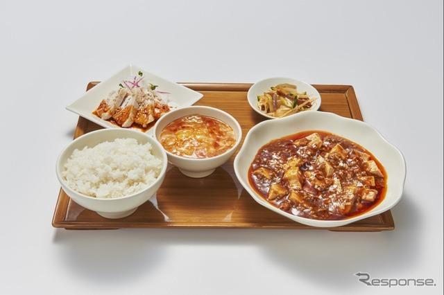 5 旨辛麻婆定食(広東炒麺 南国酒家)