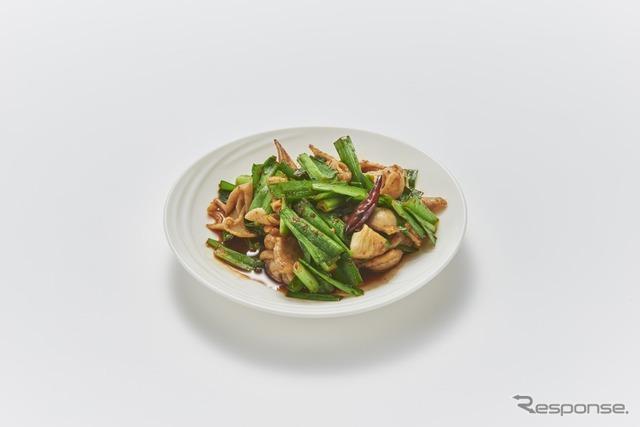 7 モツニラ ピリ辛炒め(新橋鶏繁 どんぶり子)