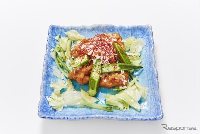 22 地鶏のピリ辛唐揚げ(噺屋)