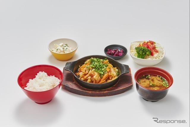 33 スタミナ豚キムチ定食(米どころん)