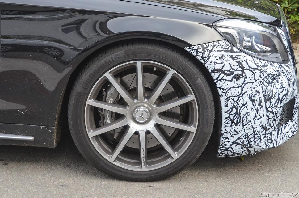 メルセデス AMG S63  セダン スクープ写真