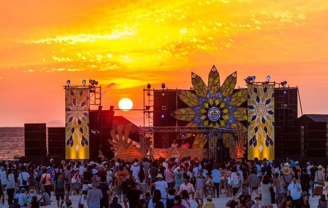 コロナビールが主催する世界的なリゾートフェス「CORONA SUNSETS FESTIVAL」昨年の様子