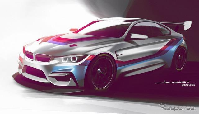 BMW M4 GT4の予告スケッチ