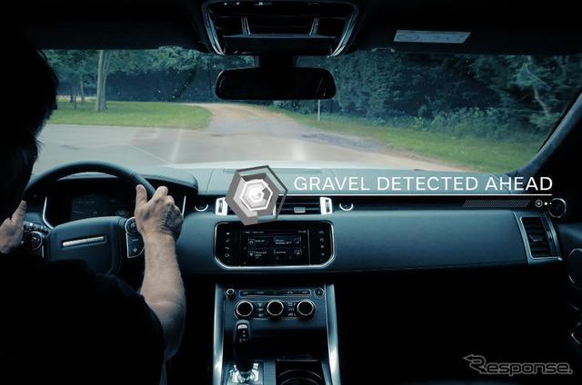 ランドローバーのオフロードでの自動運転デモ走行