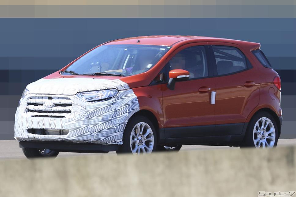 フォード エコスポーツ スクープ写真