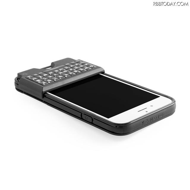 iPhoneをBlackberry風に!QWERTYキーボード付きケース「Thunderbird」