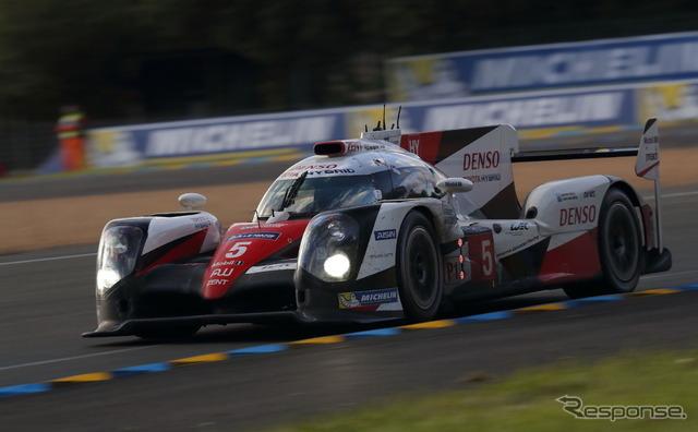 優勝目前でトラブルに遭遇したトヨタ5号車。