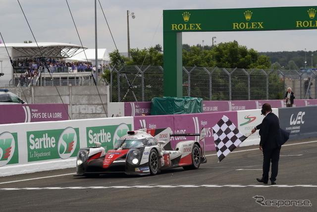 トヨタ5号車はなんとか最終周を走り切るも、正式な完走認定を受けられず。