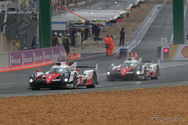 2台そろって高いパフォーマンスを見せたトヨタ勢。