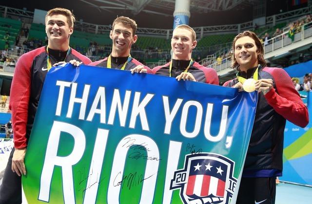 【リオ2016】競泳・フェルプス、五輪23個目の金で有終の美「完璧な終わり方」
