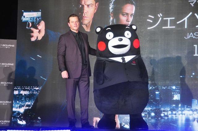 マット・デイモン&くまモン/『ジェイソン・ボーン』ジャパンプレミア