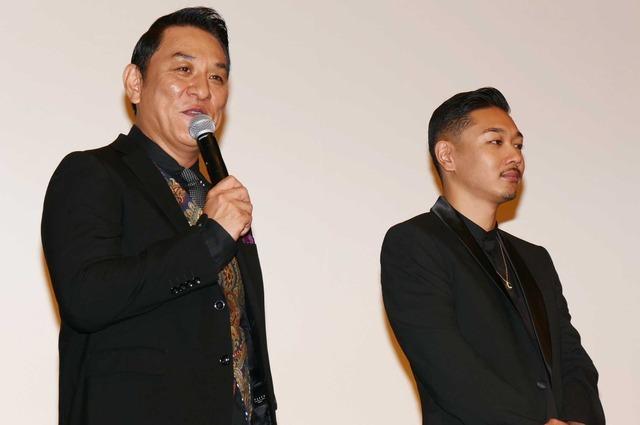 ピエール瀧&YOUNG DAIS/『日本で一番悪い奴ら』初日舞台挨拶