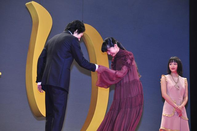 松山ケンイチ、宮崎あおい『怒り』ジャパンプレミア