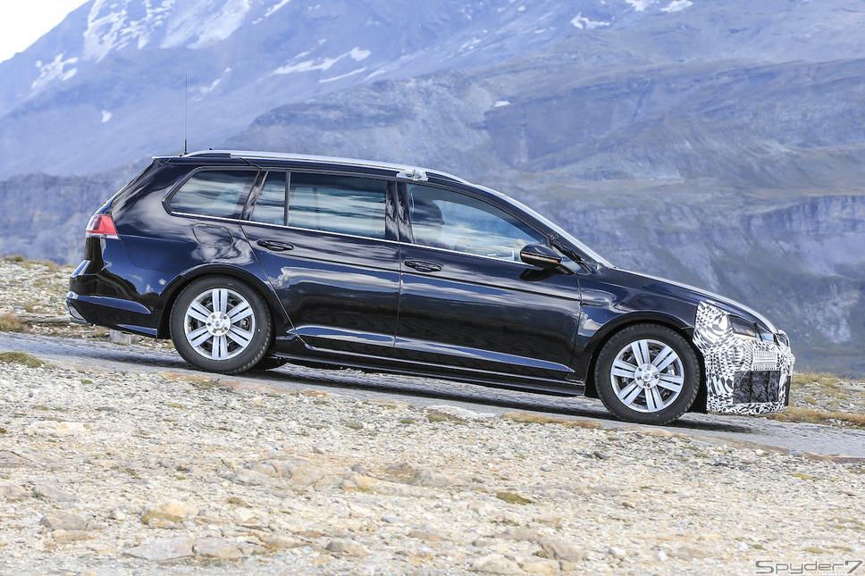 VW ゴルフ R ヴァリアント スクープ写真